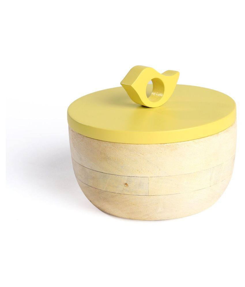 Fireflies Wood Container Wooden Food Container Set of 1 300 mL