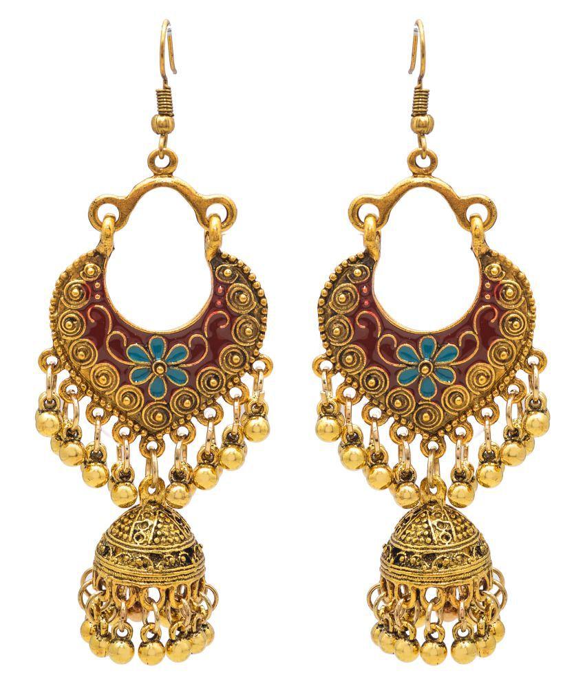 Jewelz Beautiful Gold Metallic Earrings for Women