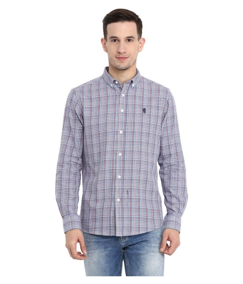 Red Tape 100 Percent Cotton Blue Shirt