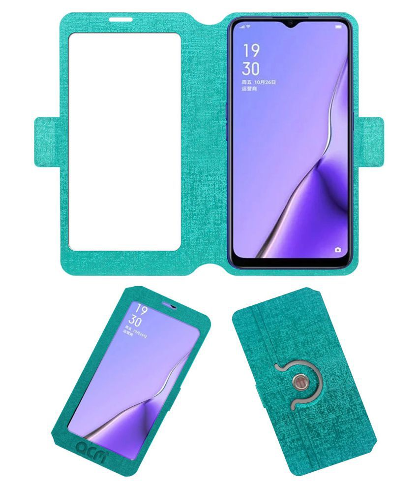 OPPO A11X Flip Cover by ACM - Blue Dual Side Stand