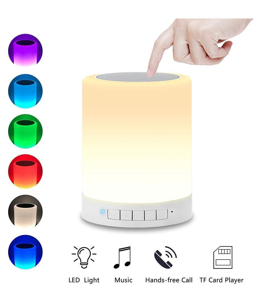 Hanuman Impex Touch Lamp Bluetooth Speaker Wireless HiFi Speaker Light USB Portable Speaker