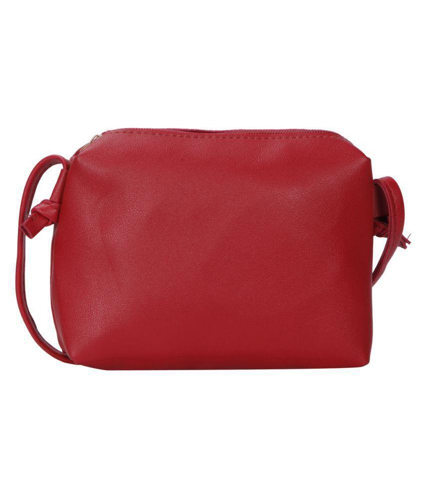 Bagkok Red P.U. Sling Bag