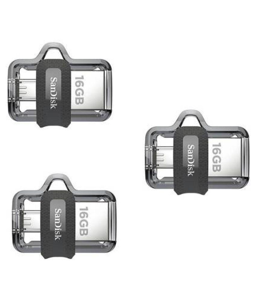 SanDisk Ultra OTG 3.0 16 GB USB 3.0 OTG Pendrive Pack of 3