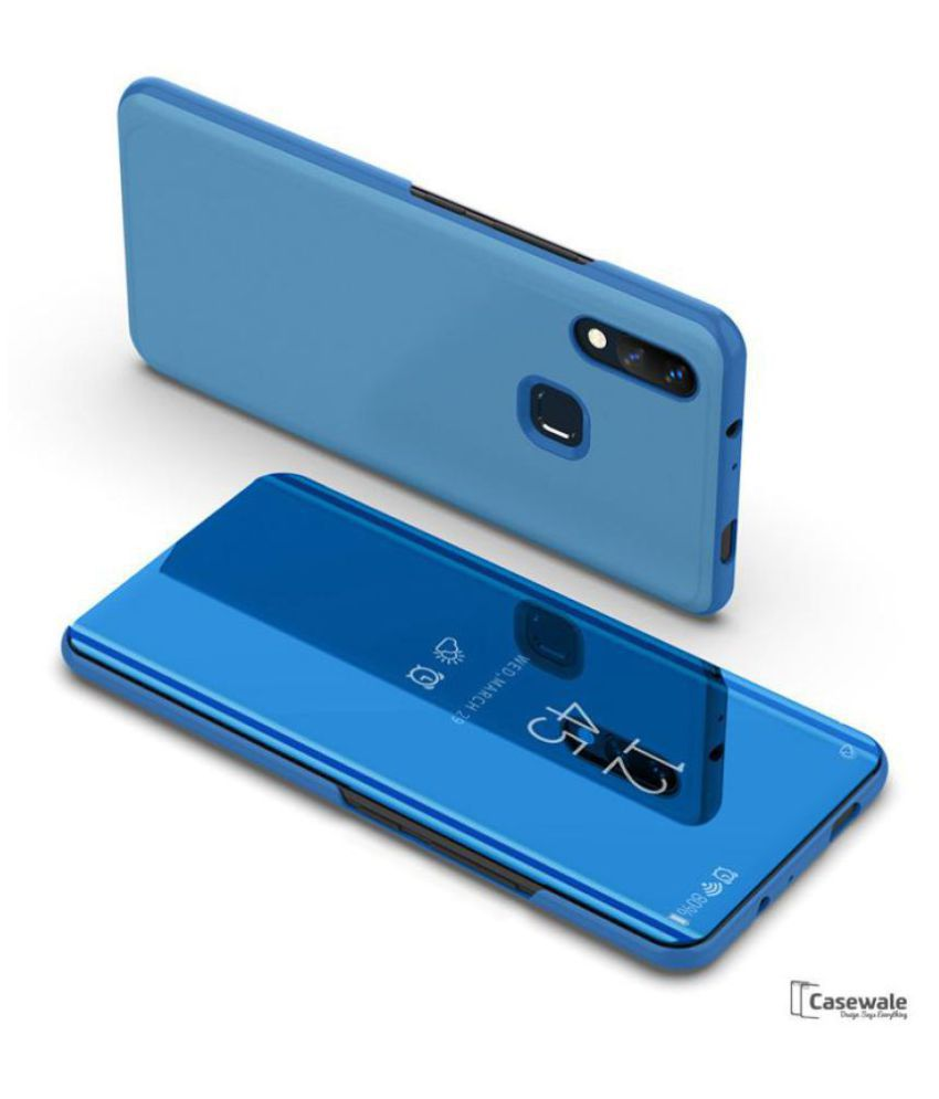 Vivo Y83 Pro Flip Cover by BeingStylish - Blue Luxury Mirror Flip Cover