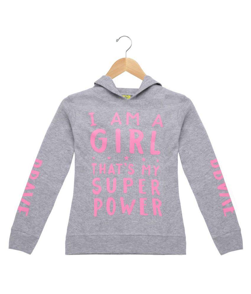 PUNKSTER  Full Sleeve Printed Girls Sweatshirt