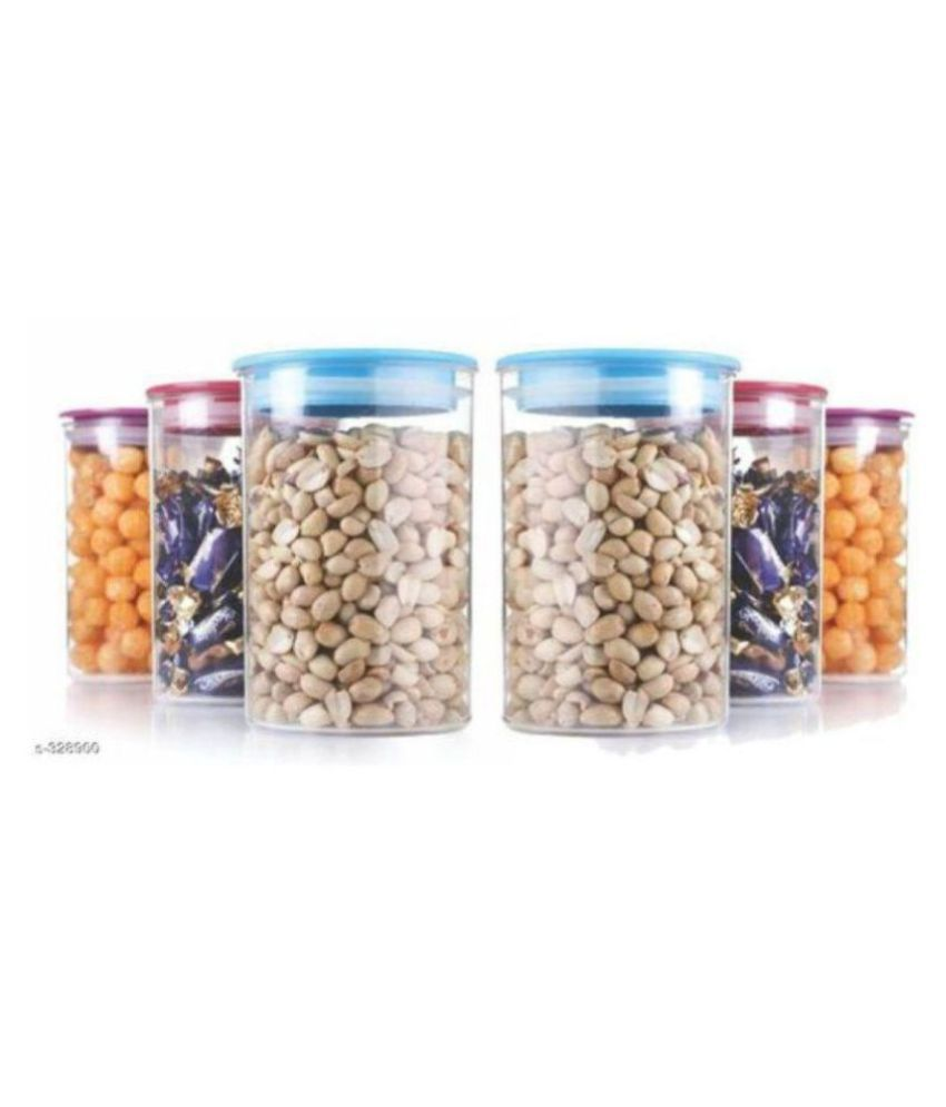 analog kichenware Grocery Container Polyproplene Food Container Set of 6 900 mL