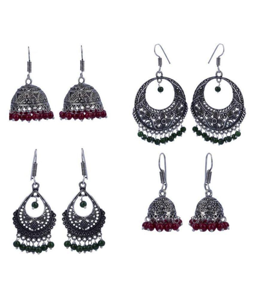 Combo pack of 4 classy Jhumka earrings