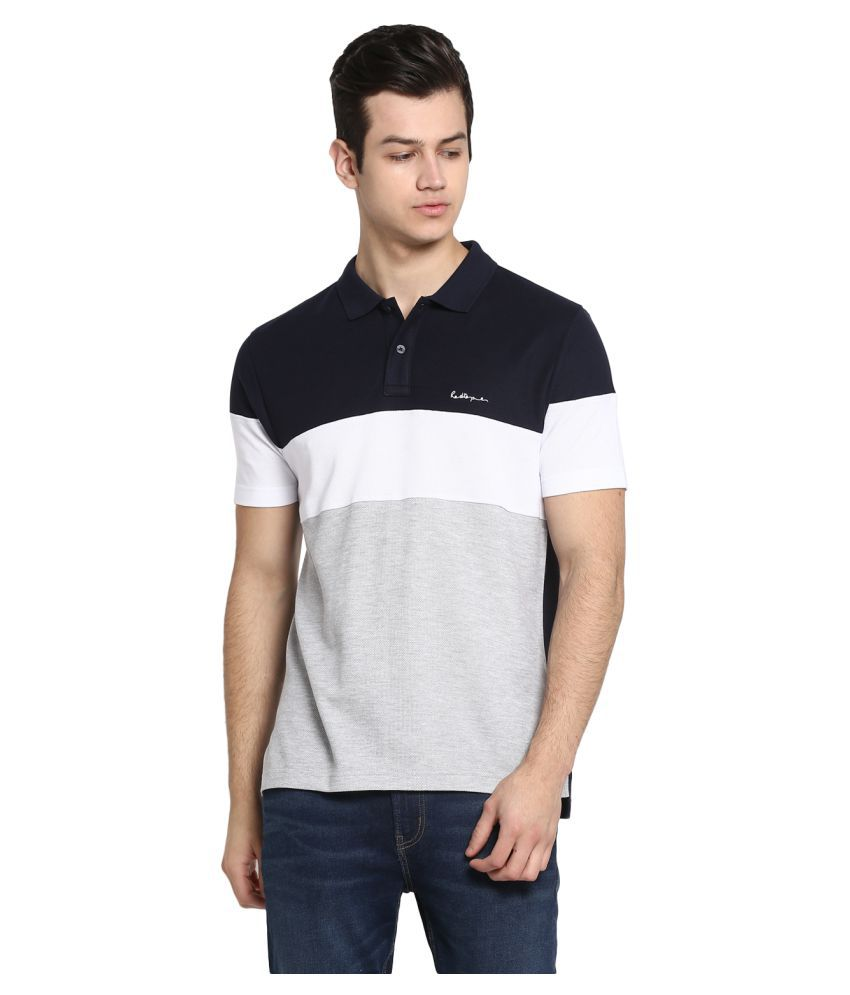 Red Tape 100 Percent Cotton Grey Plain Polo T Shirt