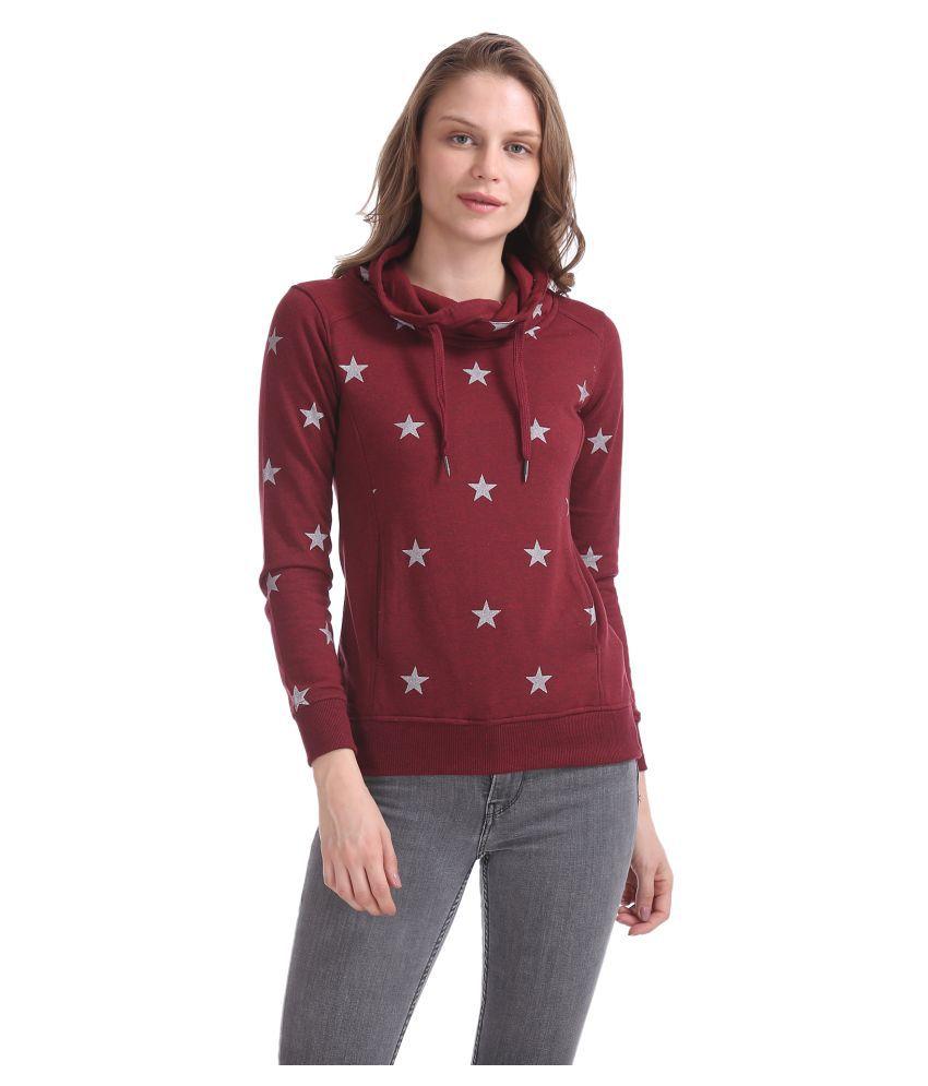 Newport Cotton - Fleece Red Non Hooded Sweatshirt