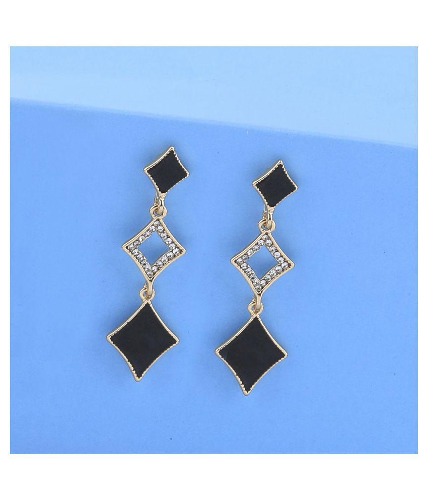 SILVER SHINE Elegant Gold Plated Party Wear Fancy  Dangle Earring For Women Girl