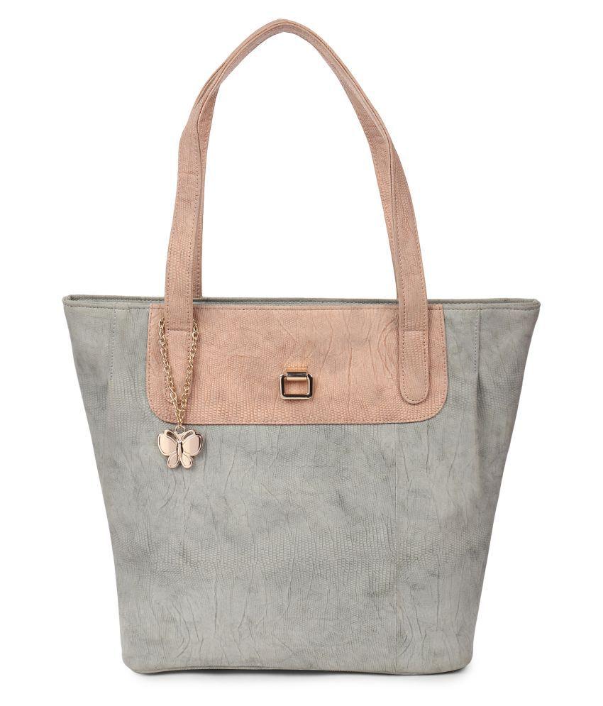 Butterflies Gray P.U. Handbags Accessories