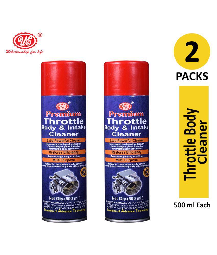 UE Premium Throttle Body cleaner Air Intake and Carburetor Choke Fuel Oil Deposit Spray Cleaner-500 ML (Pack of 2)