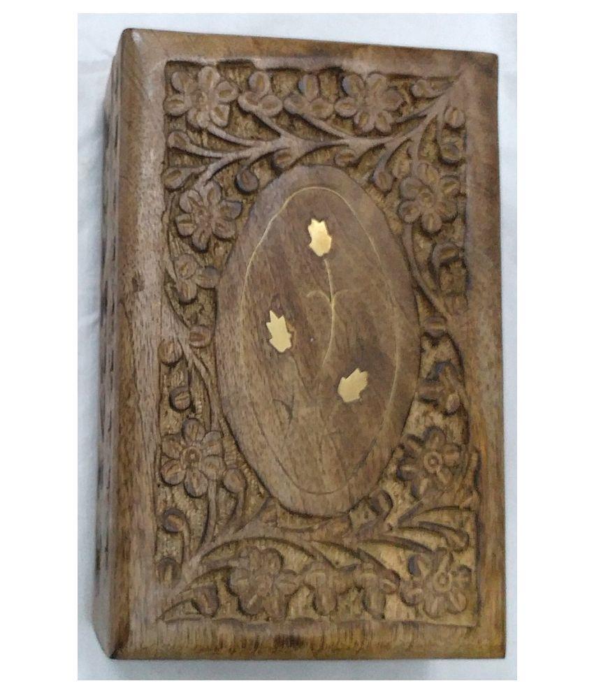 Viransh Handcrafted  Multipurpose Wooden Jewellery and Makeup box B102f