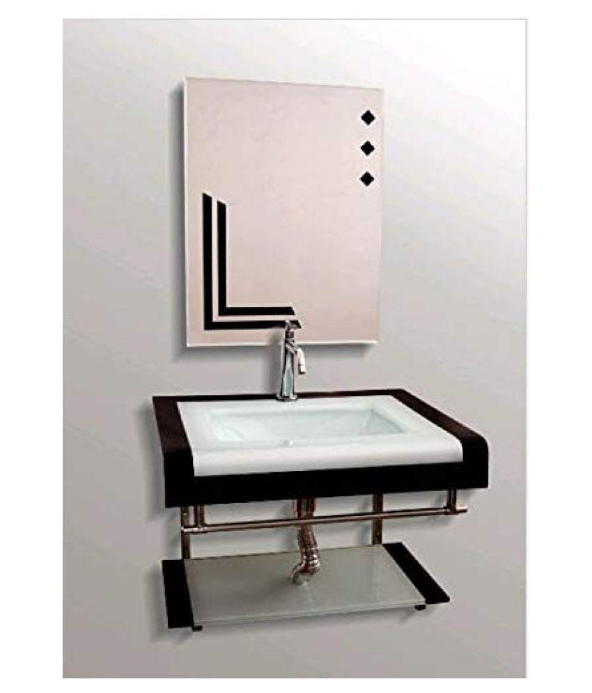 ARVIND SANITARY Black Toughened Glass Wall Hung Wash Basins