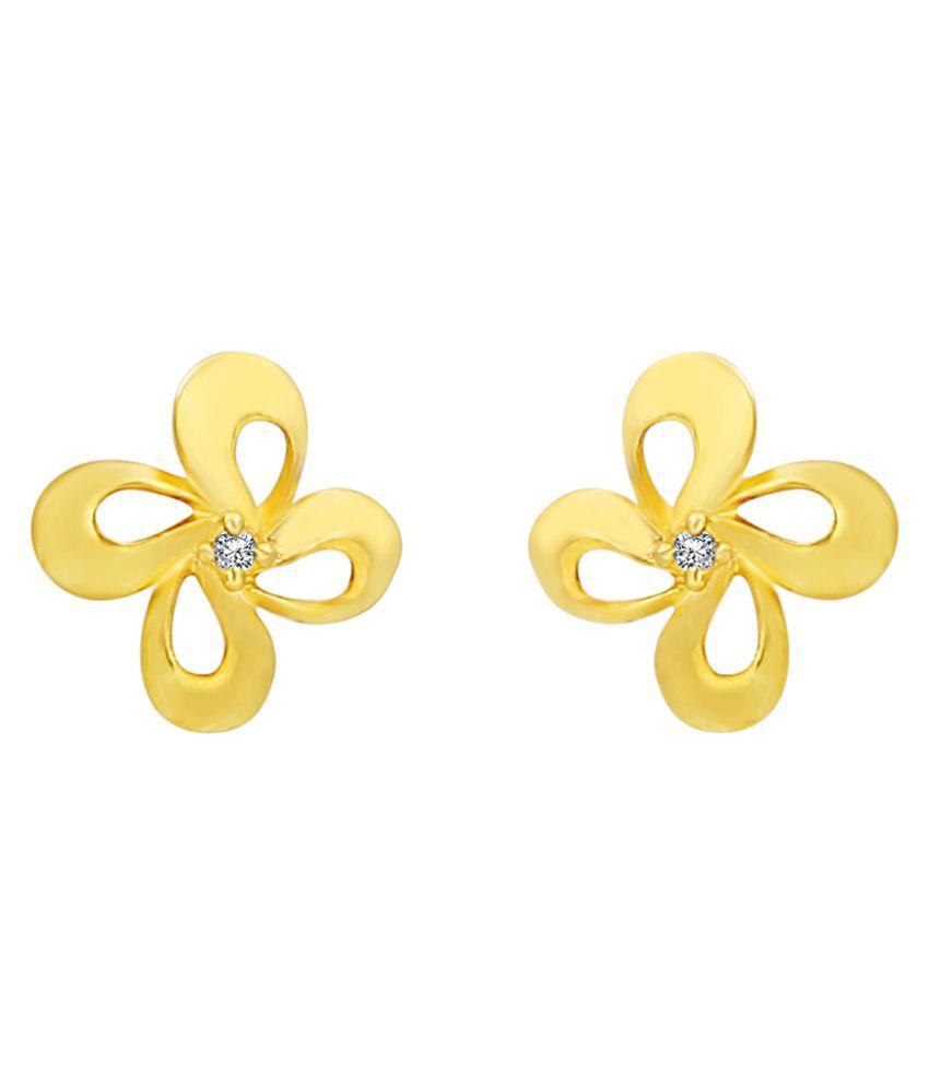 MFJ Fashion Jewellery Appealing Brass Gold Plated Stud Earring For Women