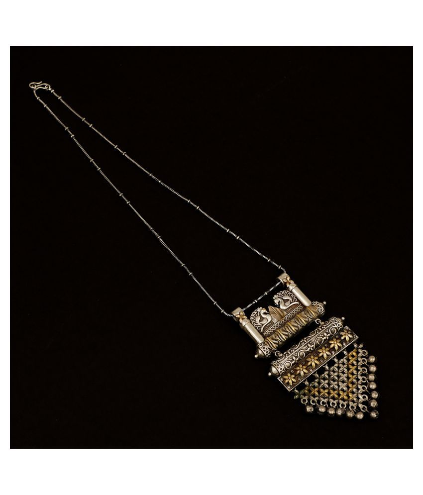 Piah Fashion Brass Silver Contemporary/Fashion Necklaces Set Long Haram