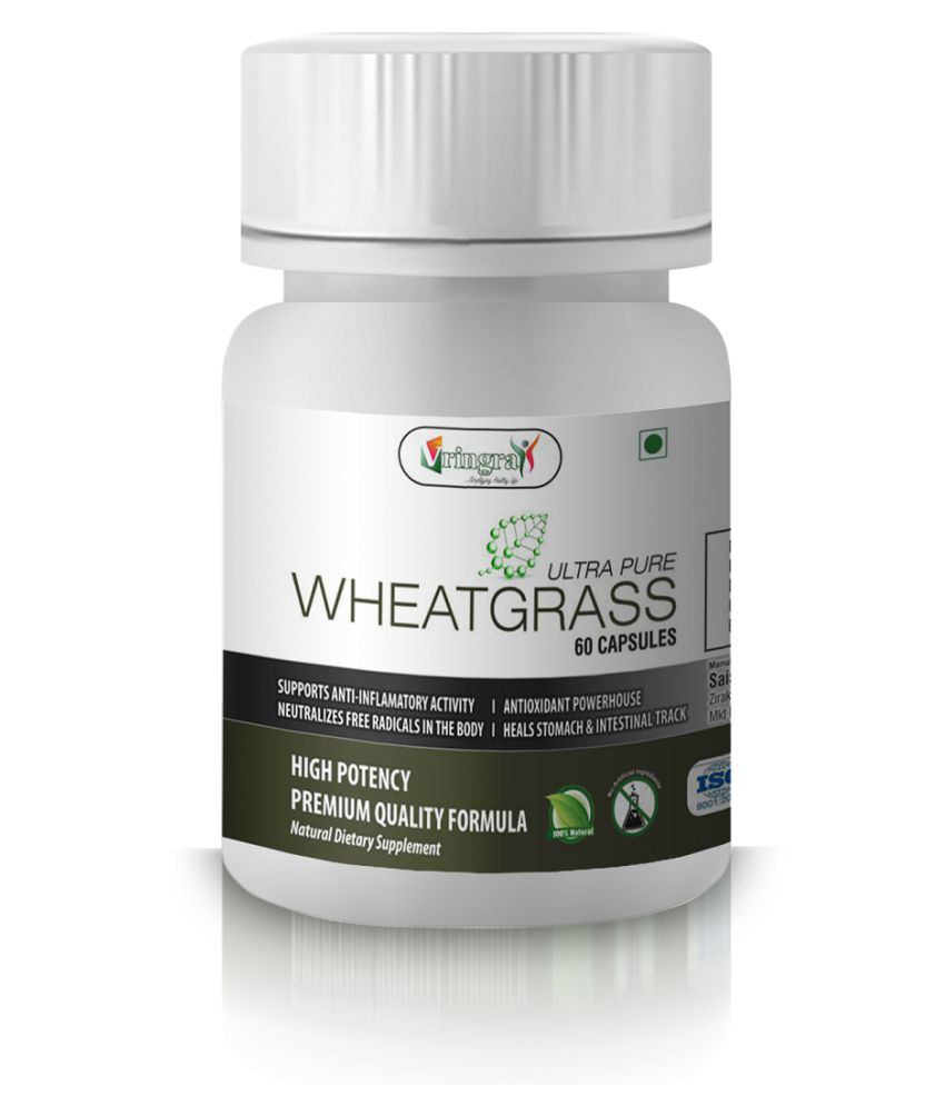 Ultra Pure Wheatgrass Capsules - Wheatgrass Extract Capsules - Wheatgrass Powder Capsules - Immune Booster 60 gm Natural Minerals Capsule