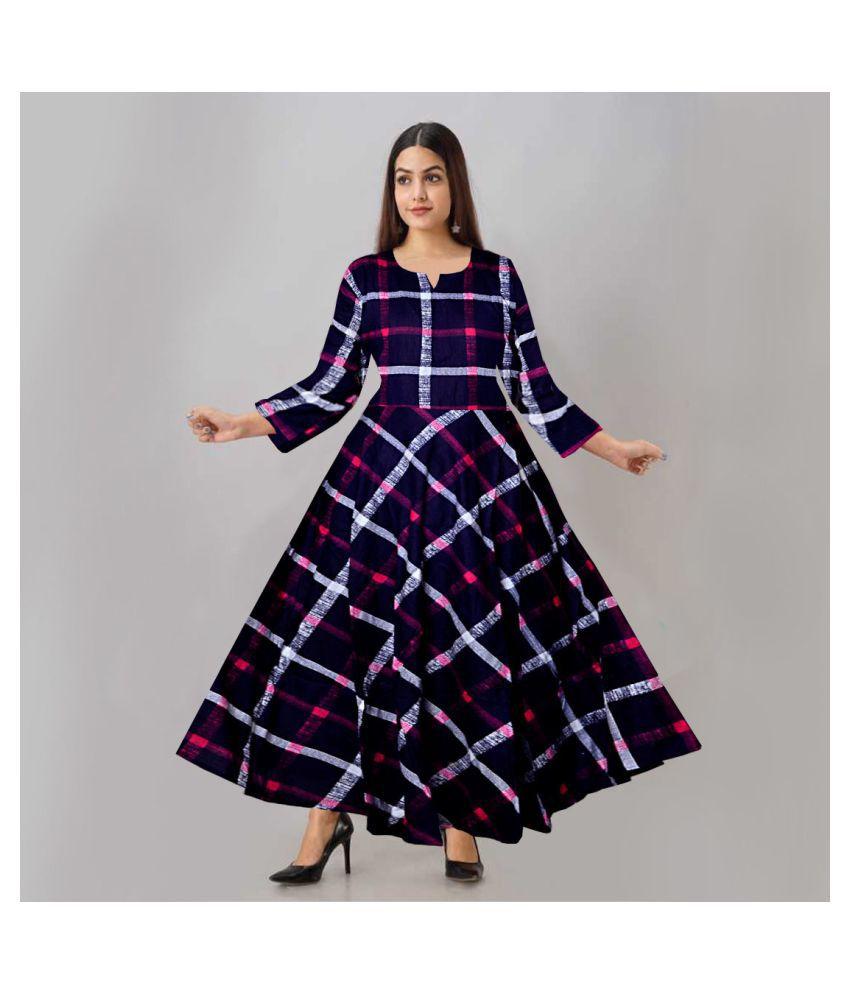 JWF Rayon Blue Cut Out Dress