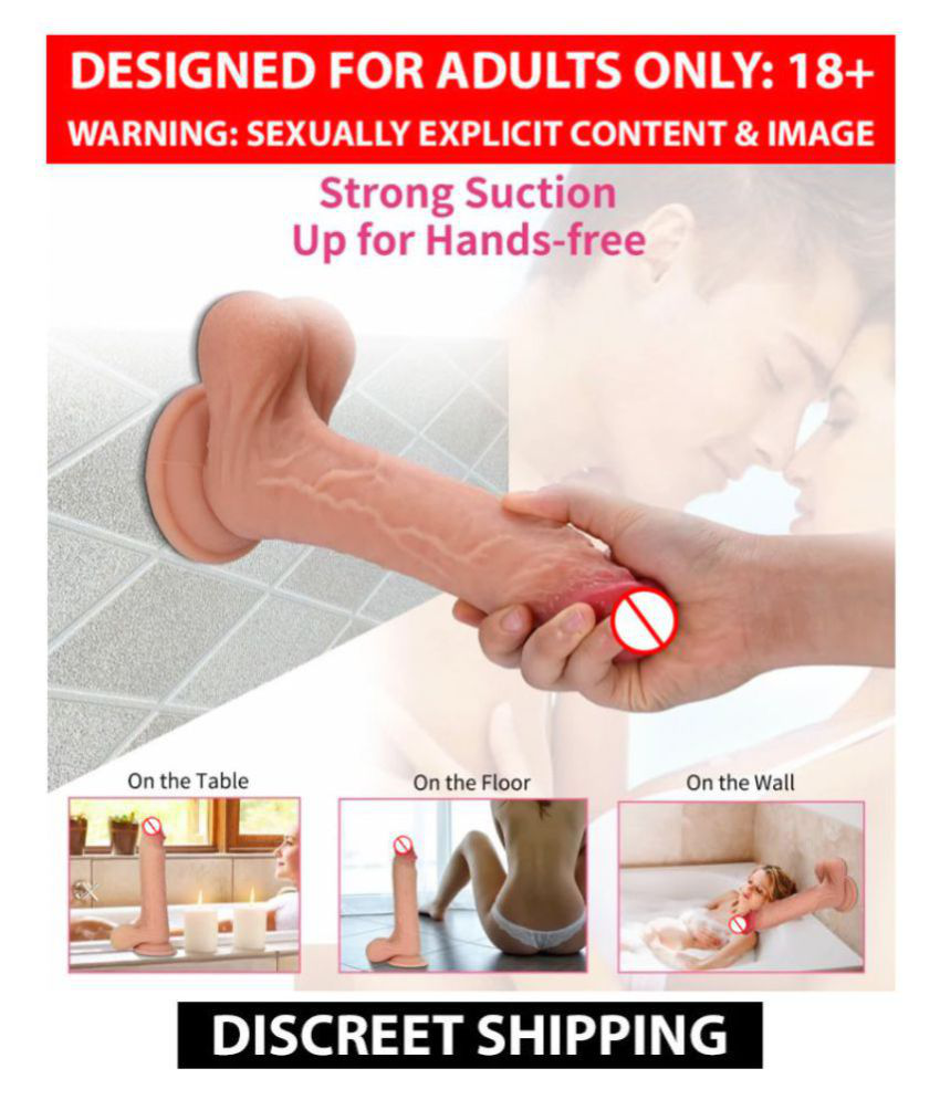 9 Inch Pink Head Realistic Dildo With Strong Suction Cup