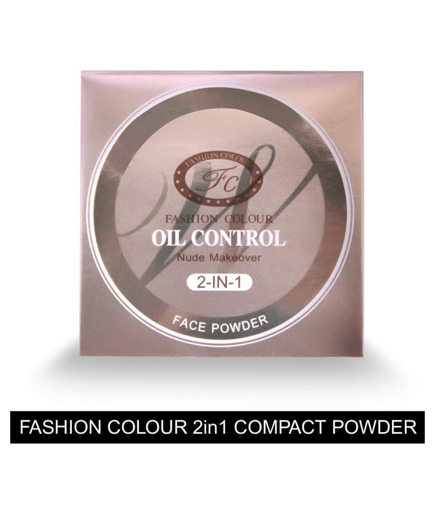 Fashion Colour 2 in 1 Oil Control Compact Pressed Powder Medium 12 g