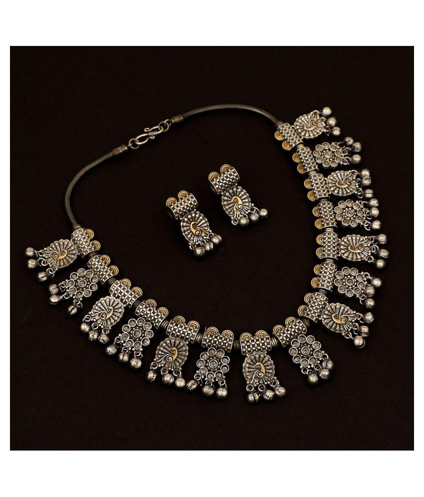 Piah Fashion Brass Silver Contemporary/Fashion Necklaces Set Collar