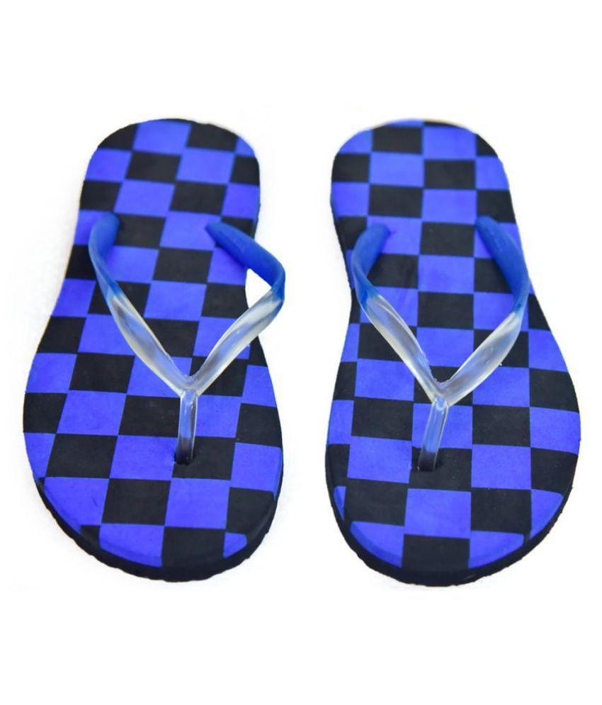 SOCCER FOOTWEAR Blue Slippers