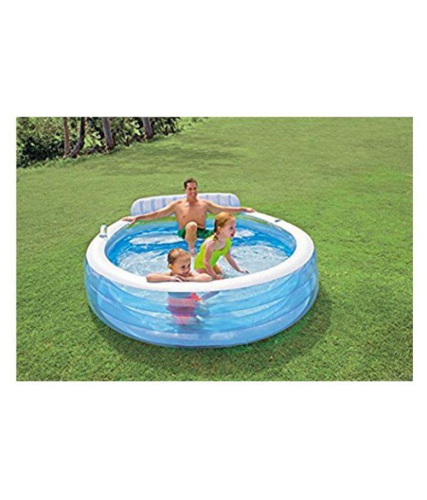 POONAM ENTERPRISE  Intex Swim Centre Family Lounge Pool, Blue
