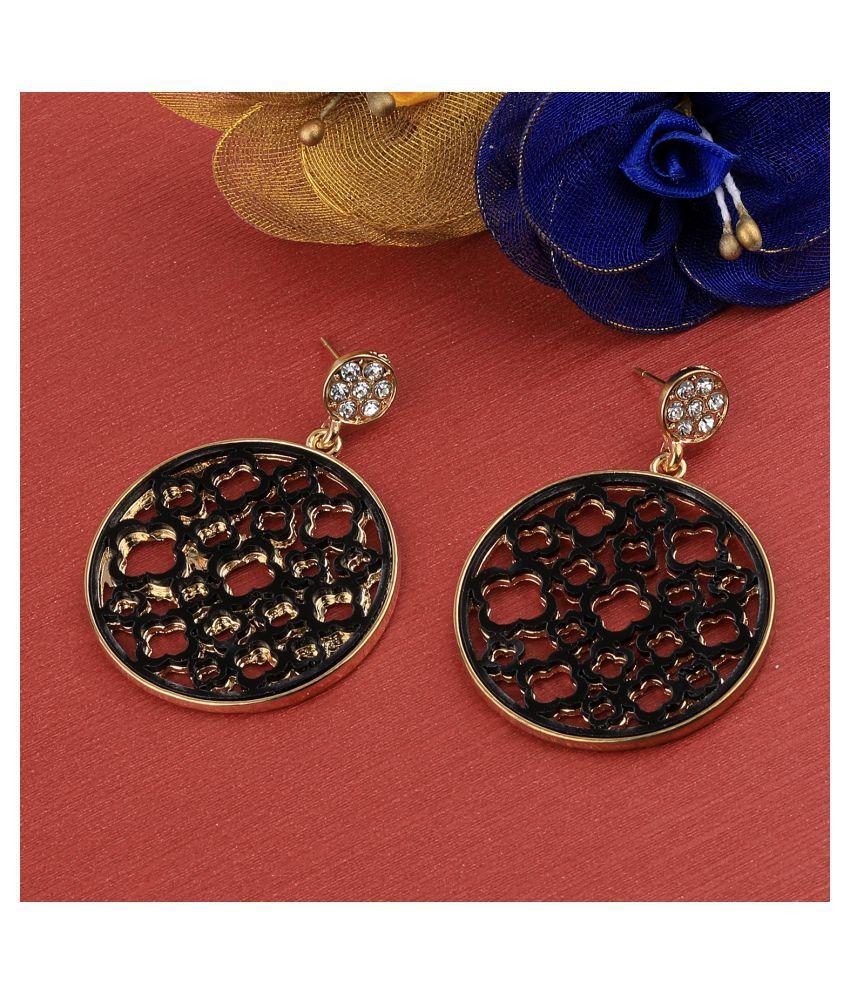 SILVER SHINE Gold Plated Elegant Stylish  Earring For Women Girl