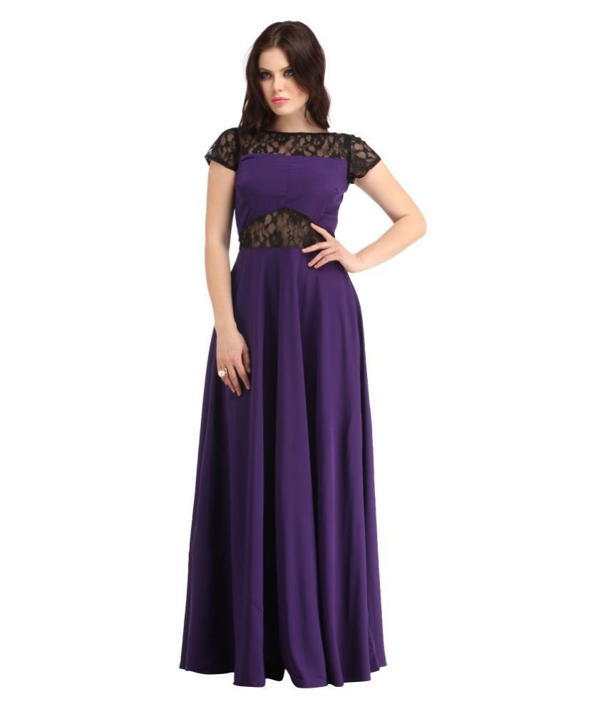 Raas Prêt Crepe Purple Fit And Flare Dress