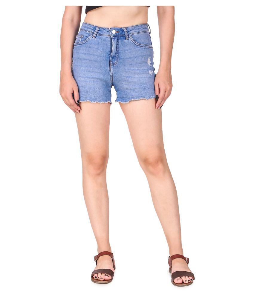 Cali Republic Denim Hot Pants - Blue