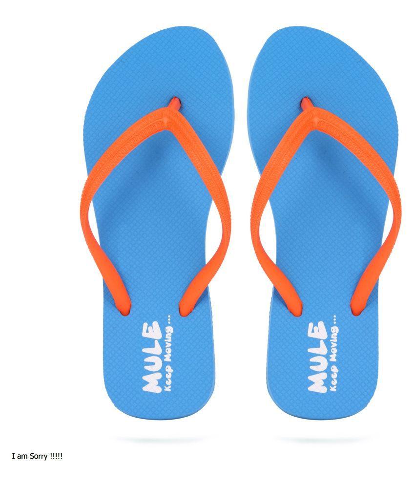 Mule Blue Slippers
