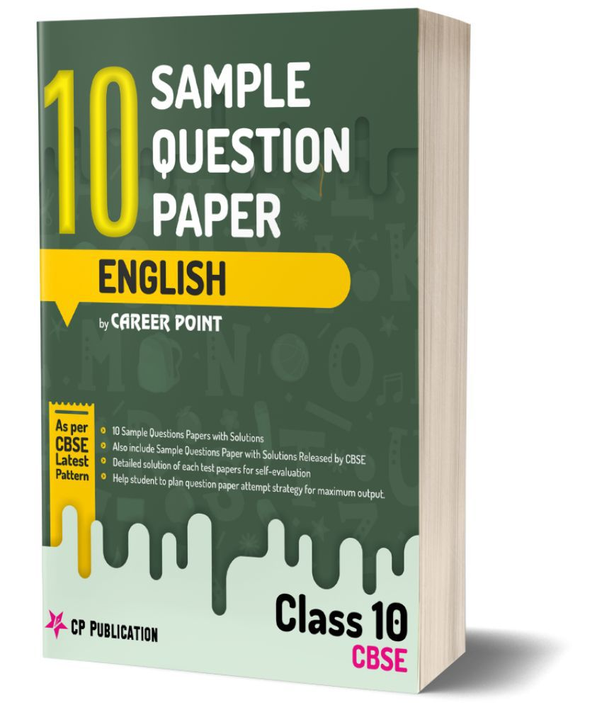 10th CBSE English: 10 Sample Questions Papers with solutions by Career Point, Kota