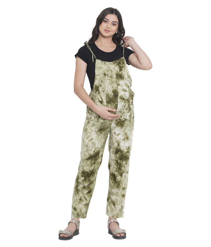 Mine4nine Green Rayon Jumpsuit