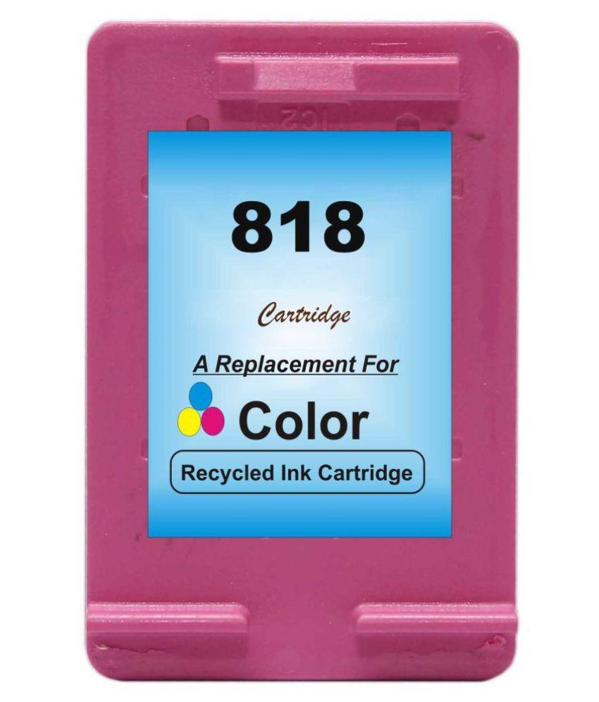 RPS 818 Color Multicolor Pack of 1 Cartridge for HP Deskjet D1668/D2668/D5568/F2418/F24