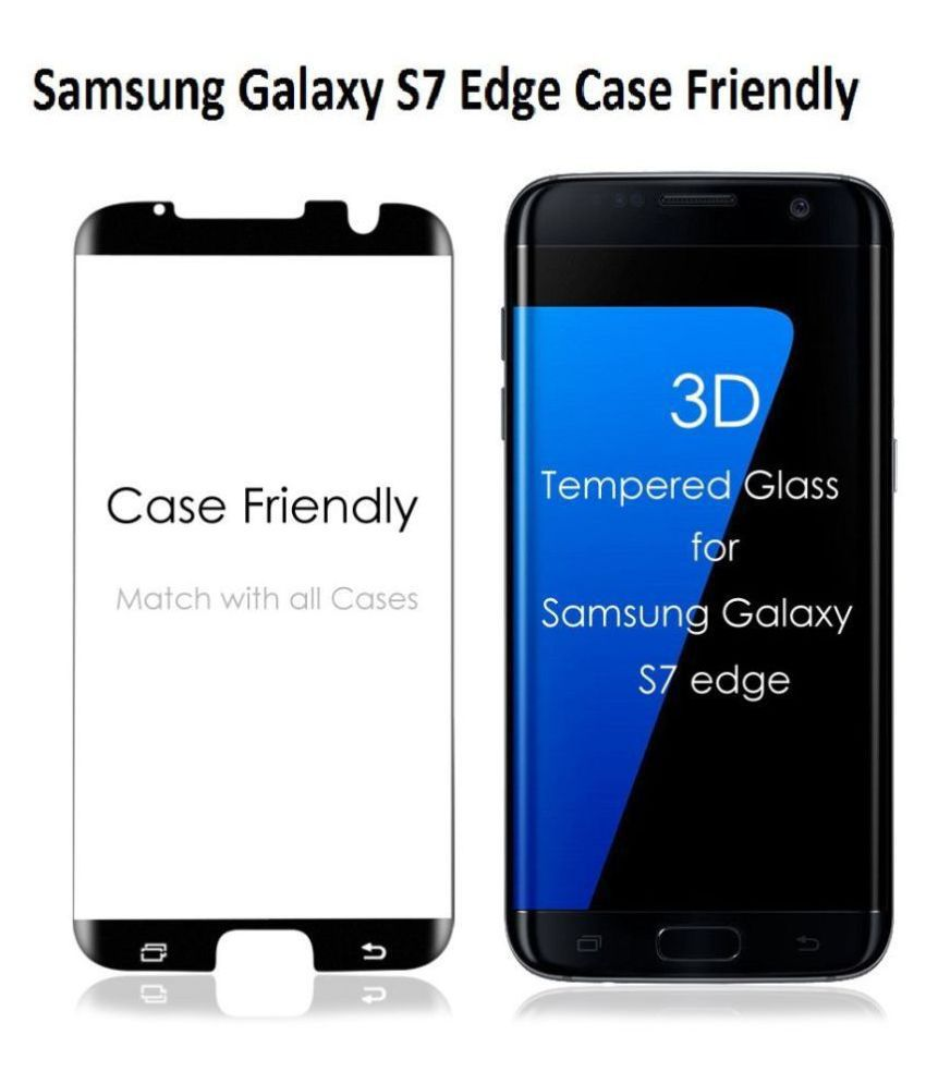 Samsung Galaxy S7 Edge Tempered Glass Screen Guard By lenmax UV Protection, Anti Reflection