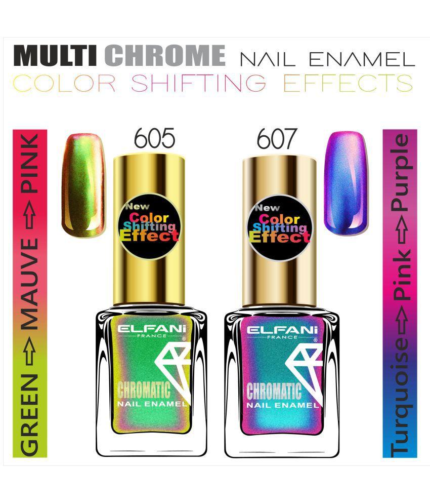 Elfani Nail Polish Kit Multi Multichrome Pack of 2 18 mL