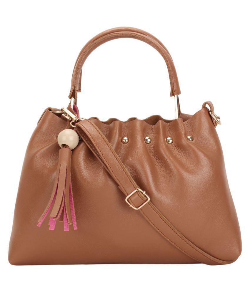 Ratan's Tan P.U. Sling Bag