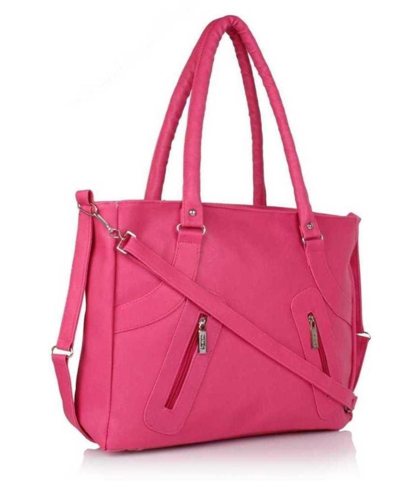 FailureS Pink Artificial Leather Shoulder Bag
