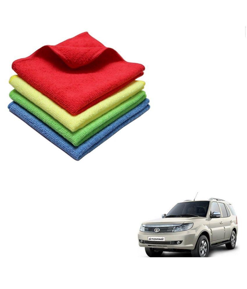 Kozdiko Microfiber Cleaning Cloth Car 300GSM 40x40 cm Pack of 4 For Tata Safari Storme