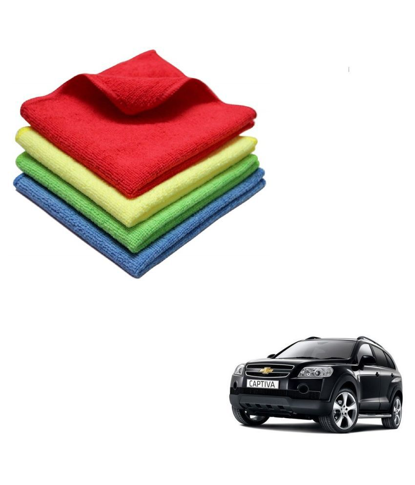 Kozdiko Microfiber Cleaning Cloth Car 300GSM 40x40 cm Pack of 4 For Chevrolet Captiva