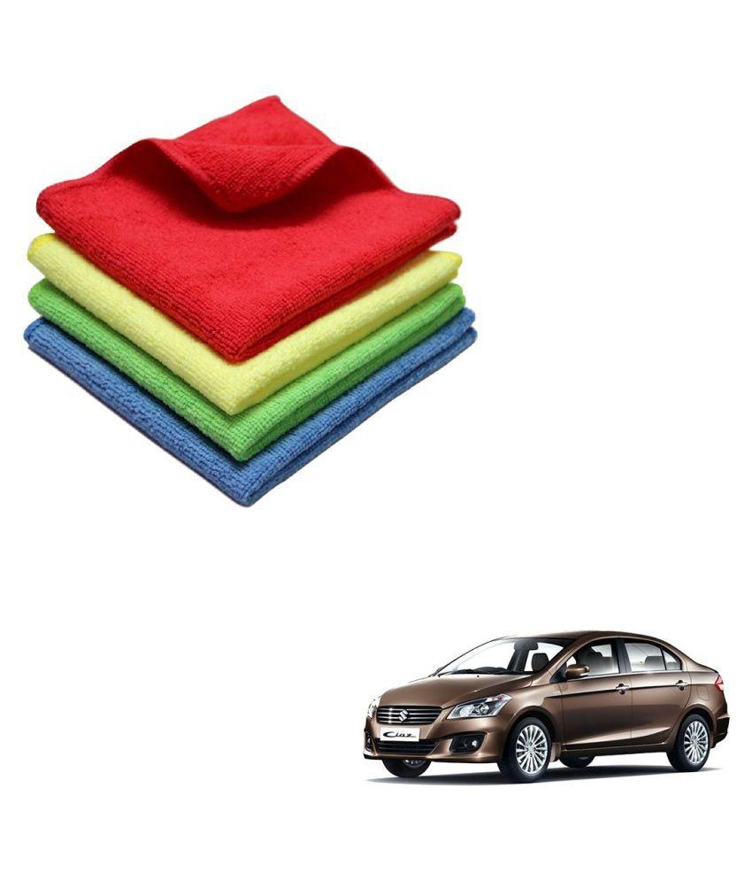 Kozdiko Microfiber Cleaning Cloth Car 300GSM 40x40 cm Pack of 4 For Maruti Suzuki Ciaz