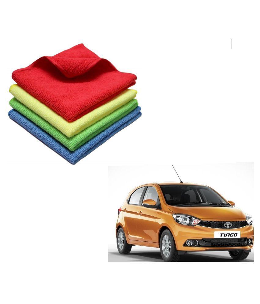 Kozdiko Microfiber Cleaning Cloth Car 300GSM 40x40 cm Pack of 4 For Tata Tiago