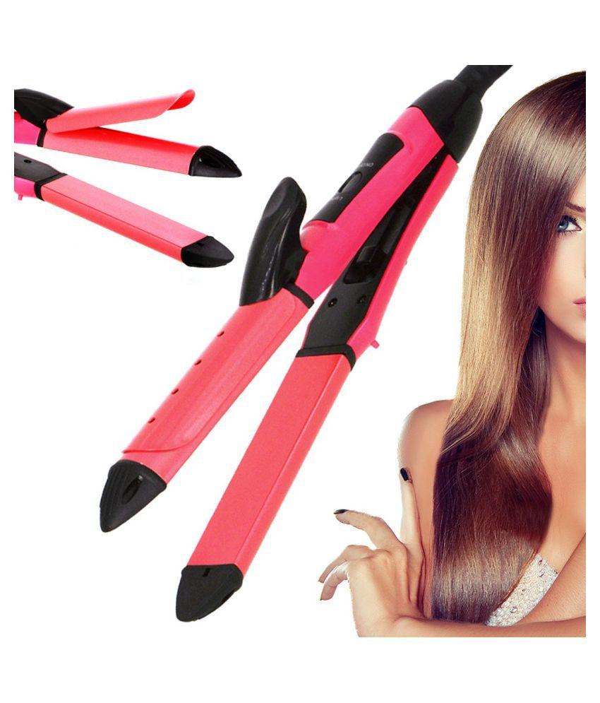 SJ Professional Hair Straighteners Travel Flat Iron 40W Hair Straightener ( Pink )