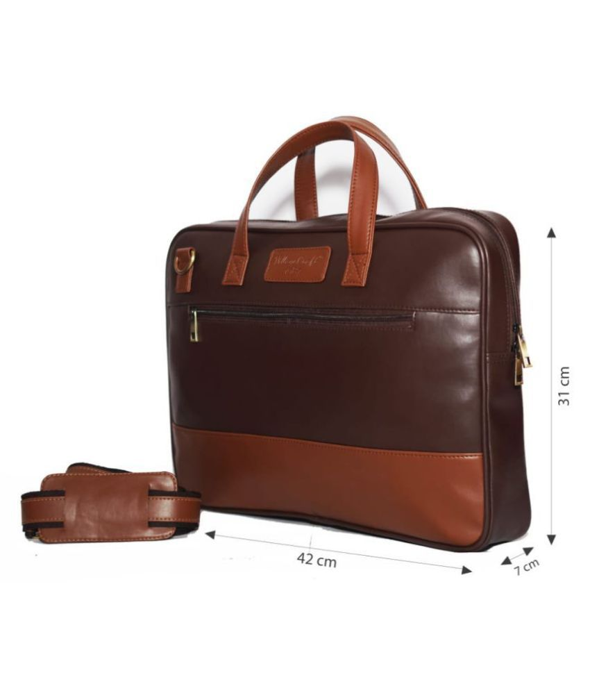 Village Craft Brown P.U. Office Bag