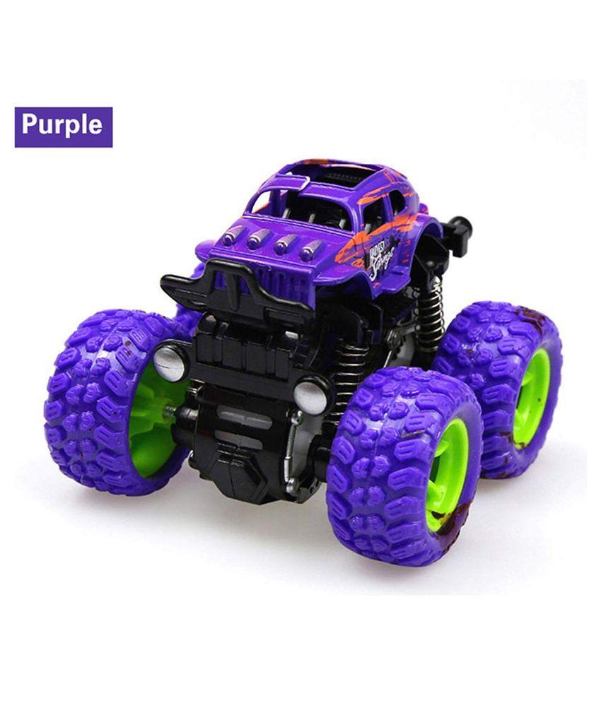 KF Deals Toys Monster Trucks Friction Powered Cars for Kids, Toddler Toys Inertia Car Toys (Purple)