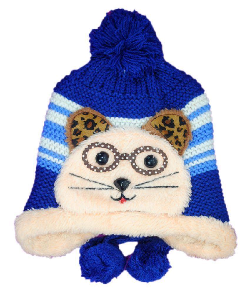 Kids Stylish Winter Cap/ Woollen Cap (Blue)
