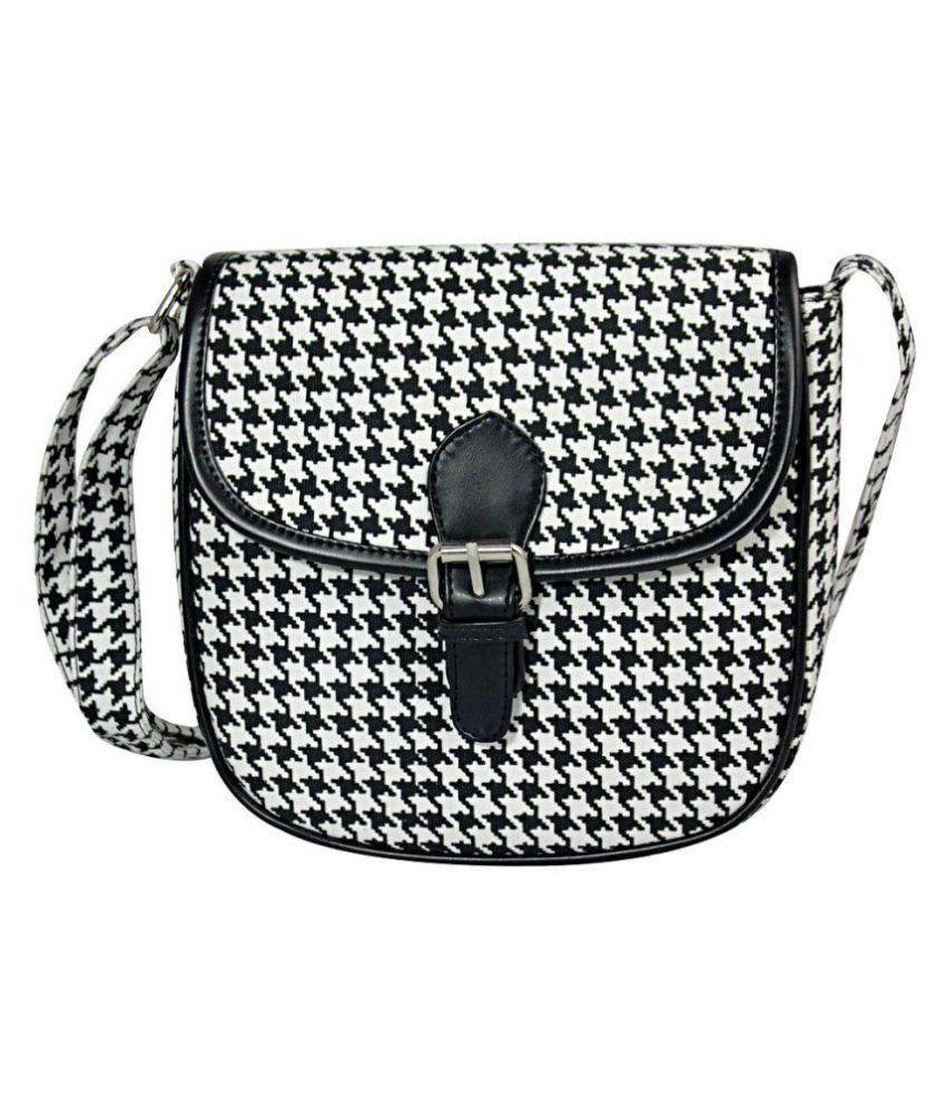 Lychee Bags Black Canvas Sling Bag