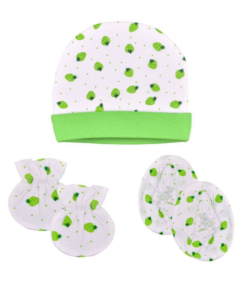 Gouravsumana Baby Boys and Baby Girl's Soft Cotton Cap ( Multicolour ; Pack Of 1 ) 0-6 Months