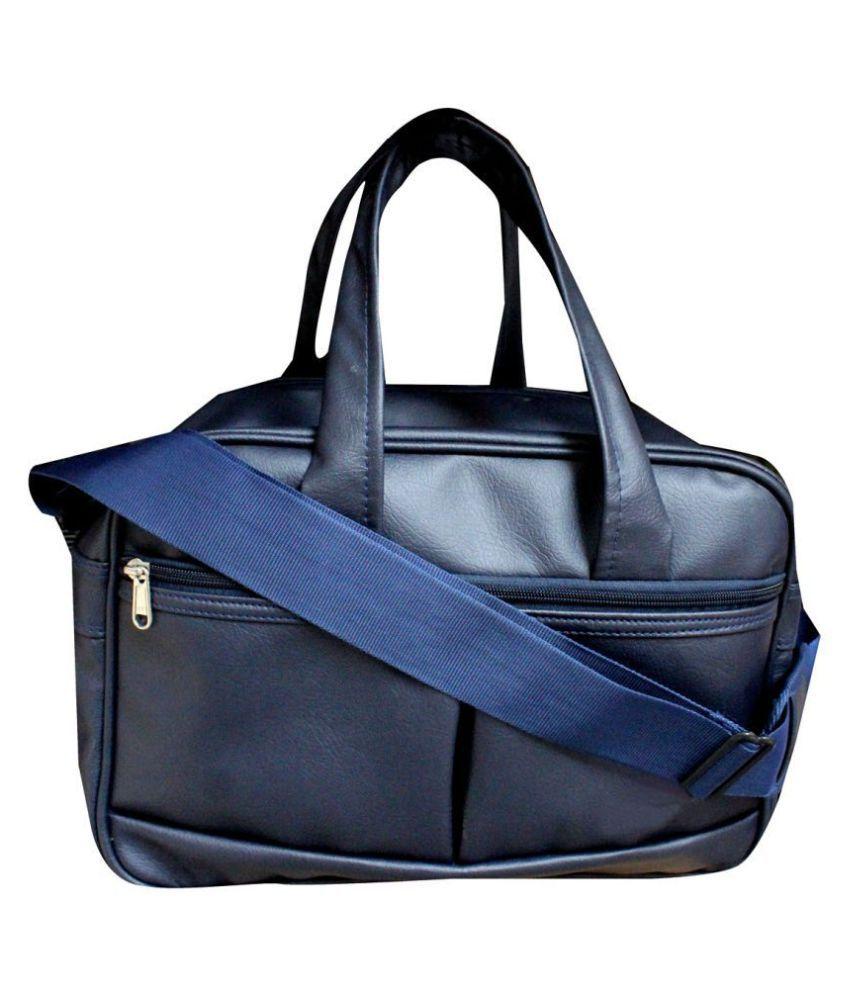 HD Blue Solid M Duffle Bag