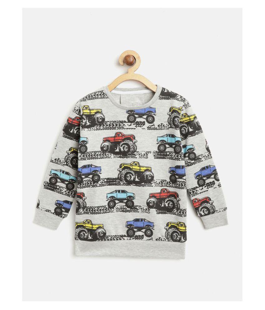 Lazy Shark Kids Boys Cars Print Sweatshirt